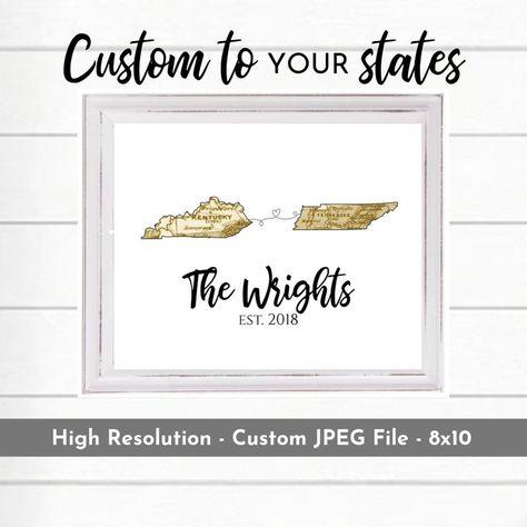 PRINTABLE -JPEG- Wedding Art, Wedding Gift, Adventure, Going Away Gift, Moving Away, Couples Gift, Map Art, Travel Map, Custom Map, Travel
