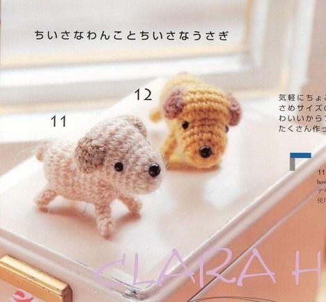 Tiny puppy amigurumi pattern - Amigurumi Today | 436x470