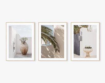 Set of 3 Prints, Wall Art Prints, Set of Prints, Botanical Print, Dried Flowers Art, Wall Decor, Boh