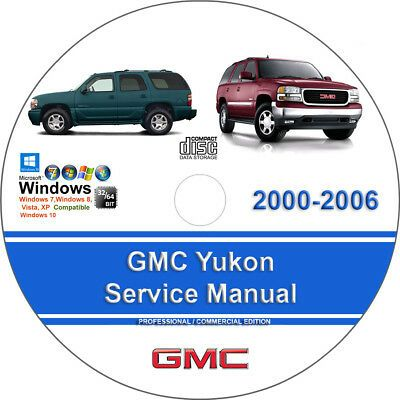 Advertisement Ebay Gmc Yukon 2000 2001 2002 2003 2004 2005 2006 Factory Service Repair Manual In 2020 Repair Manuals Chevrolet Tahoe Ford Escape