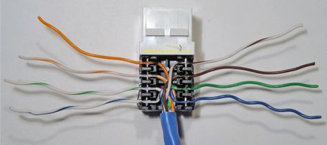 Completed Cat5e Ethernet Jack Wire Punchdown Wall Jack Phone Jack Home Network
