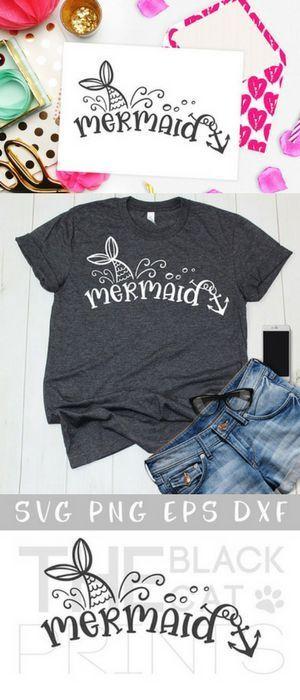 Mermaid Svg Heat Transfer Vinyl Mermaid Tail Svg Summer Svg File For Cricut Ocea Mermaid T Shirt Ideas Of Mermaid T Shirt Cricut Vinyl Shirts T Shirt Yarn