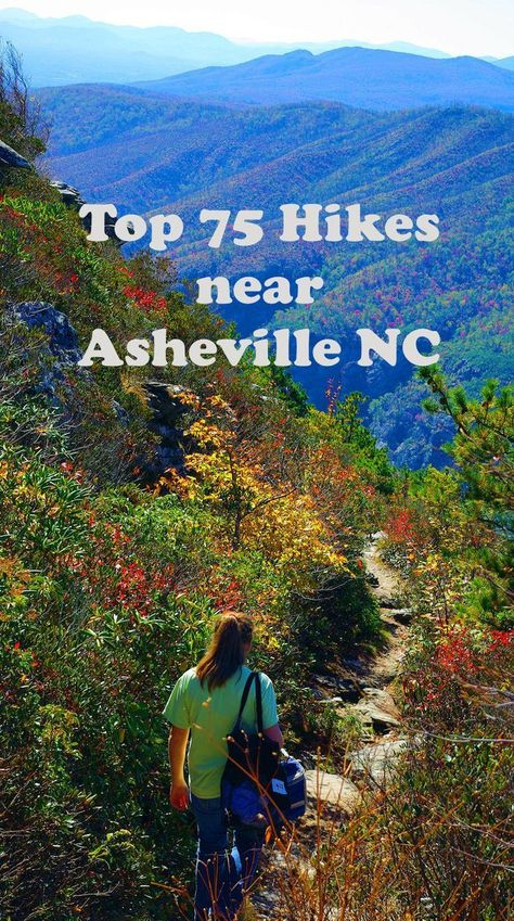 Discover the Top 75 Hiking Trails near Asheville for amazing hikes in the North Carolina: www.:: Discover the Top 75 Hiking Trails near Asheville for amazing hikes in the North Carolina: www. Nc Mountains, North Carolina Mountains, Blue Ridge Mountains, North Carolina Camping, Maggie Valley North Carolina, Hiking Tips, Camping And Hiking, Rv Camping, Camping Cabins