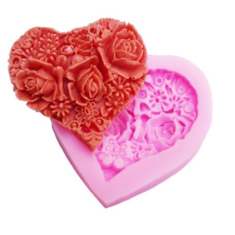 Candle Making Soap Making Chocolate Mold Valentine S Day Rose Heart Silicone Soap Cake Craft Accessories Crafts Mhg Co Ke