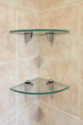 Quarter Circle Glass Shelf 16 X 16 In 2020 Glass Shelves In Bathroom Glass Shelves Kitchen Glass Shelves