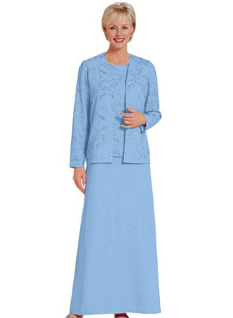Glitter Design 3-Piece Gown at http://www.AmeriMark.com. #choirdress #specialoccasindress #womensformaldress #ladiesdress #amerimark #anthonyrichards