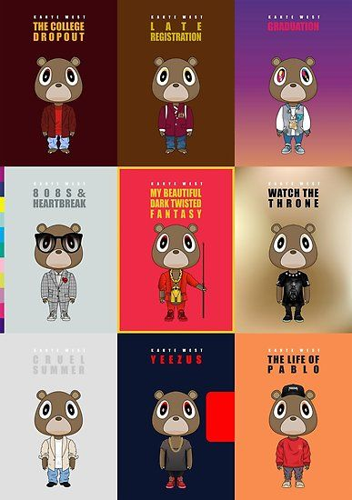 All Vertical Poster By Degausser Kanye West Wallpaper Kanye West Album Cover Kanye West Bear