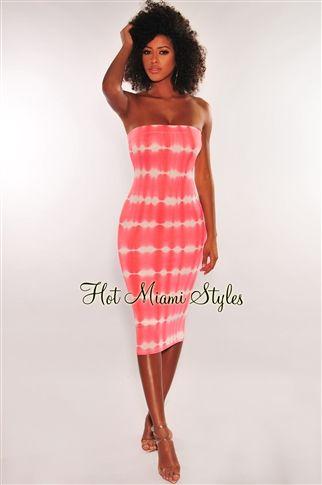 47++ Tie dye strapless dress ideas