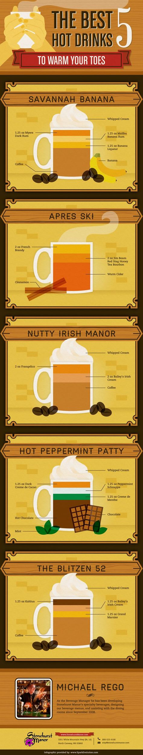 Warming Winter Drinks With A Twist #infographic #drinks