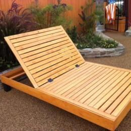Skagerak Riviera Liege Bank Teak Holzliege S1701515 Eingang Garten