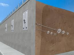 Pouring Concrete Retaining Wall Anchor On A Hill With Reinforcement Google Search In 2020 Concrete Retaining Walls Retaining Wall Repair Retaining Wall