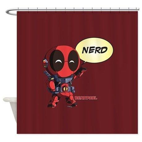 Deadpool Nerd Shower Curtain Nerd Curtains Deadpool