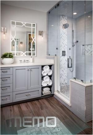 Feb 27 2017 Get Inspired For Your Next Bathroom Remodel With These 15 Beautiful Bathrooms Featur In 2020 Bathrooms Remodel Bathroom Design Decor Wood Floor Bathroom