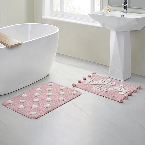 Vcny Hello Lovely 2 Pc Bath Rug Set Jcpenney Rug Sets Bath