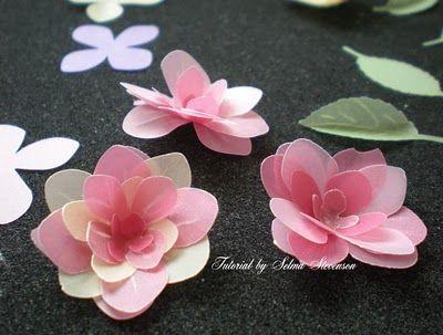 PUNCH ART vellum flowers