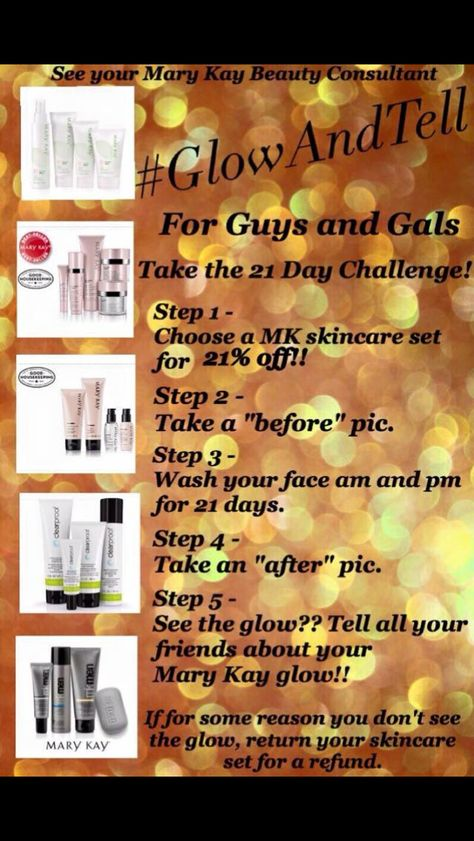 Contact your Mary Kay Beauty Consultant for more details. If you do not have a consultant I'm happy to help www.marykay.com/alicewatson