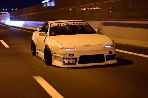 Nissan Silvia, Nissan 180sx, Tuner Cars, Jdm Cars, Slammed Cars, Cars Auto, Muscle Cars, Silvia S13, Street Racing Cars