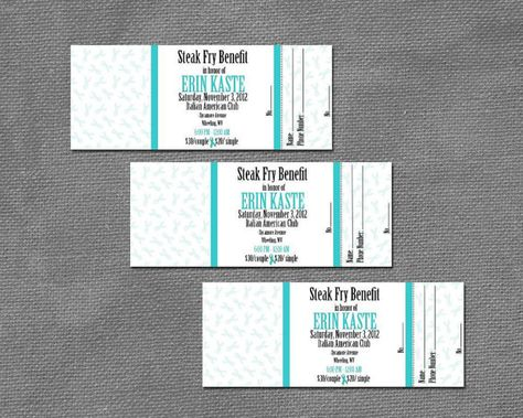 Custom Digital Event Tickets by MDesignCreations on Etsy, $1000 - free event ticket template microsoft word