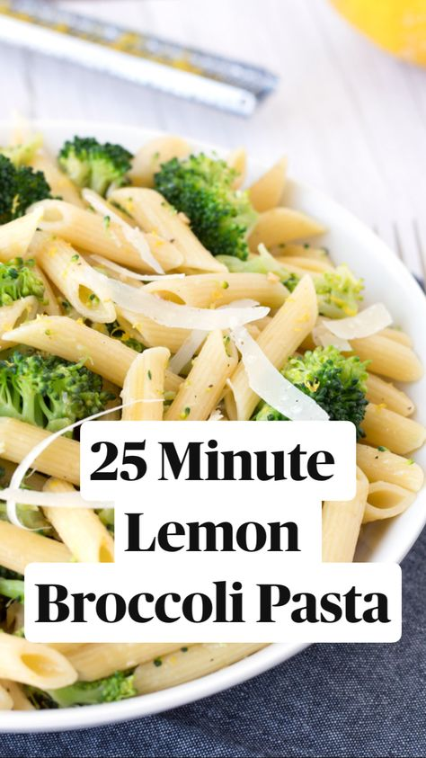 25 Minute Lemon Broccoli Pasta