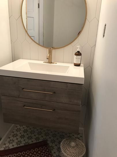 Domani Larissa 31 In W X 19 In D Wall Hung Bath Vanity White