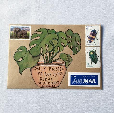 Three original drawings to make your own mail-art Envelope Art, Envelope Design, Envelope Templates, Letter Writing, Letter Art, Mail Writing, Mail Art Envelopes, Art Postal, Mail Gifts
