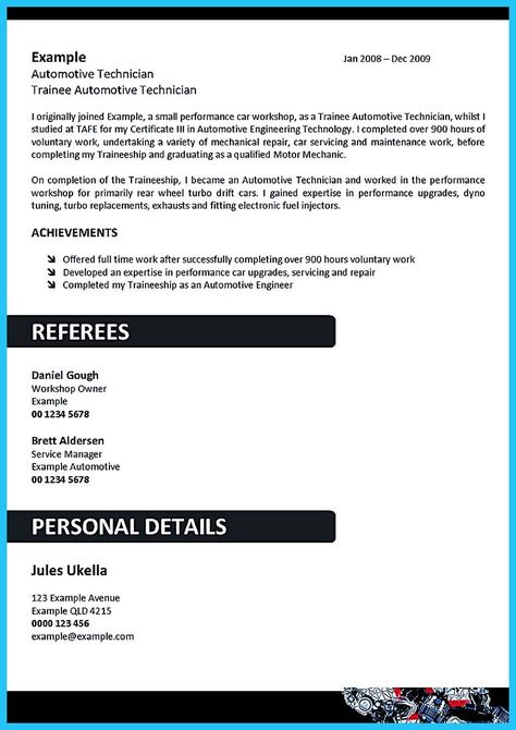 cool Delivering Your Credentials Effectively on Auto Mechanic - auto mechanic resume sample