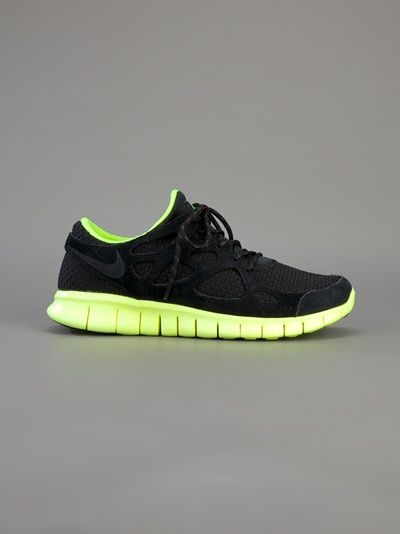 Men's Nike Free Run+ 2 Woven Black Volt Sneakers : V8g1681
