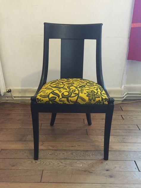 Chaise Gondole Style Empire Design Black Wax Loft Mobilier De Salon Decoration Interieure Meuble Design