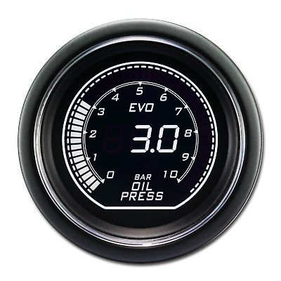 Sponsored Ebay 52 Mm Auto Digital Oil Pressure Gauge For Car White Green Lcd Display 12 V Bar Oil Pressure Pressure Gauge Gauges