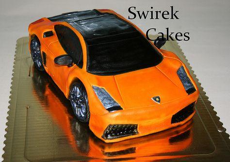Tortenaufleger Geburtstag Tortenbild Fondant Oblate Lamborghini L4