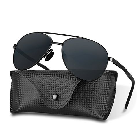 283472a83 HiCool Polarized Sunglasses, Classic Aviator Sunglasses Polarized Sports  Sunglasses Driving Polarized Sunglasses with Case 100% UV Protection for Men  and ...