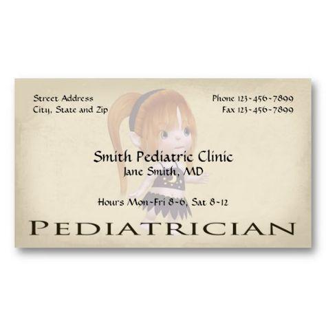 Pediatrician Pediatric Business Cards Zazzle Com Doctor Business Cards Business Card Design Pediatrics