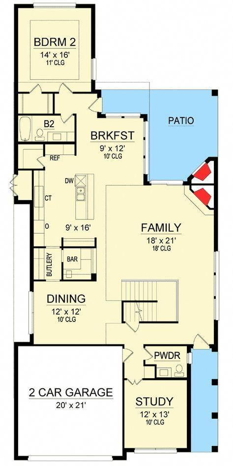 Plan 36457tx Hill Country House Plan With A Modern Twist Plans Modern House Plans New House Plans