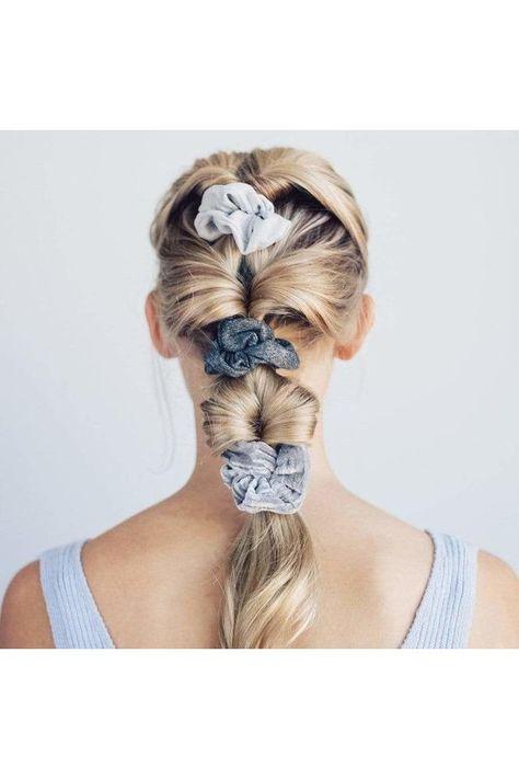 Velvet Scrunchie Set (Greys)