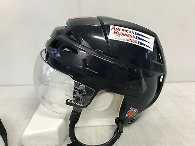 Ccm Vector V08 Pro Stock Hockey Helmet Medium Blue Bauer Visor 2128 In 2020 Hockey Helmet Helmet Medium Blue