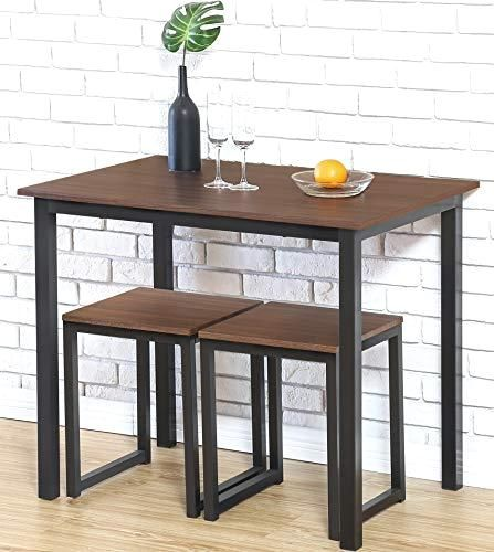 Homury Modern Wood 3 Piece Dining Set Studio Collection Soho