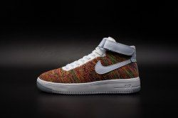 High end Product Nike Air Force 1 Flyknit color White Men's