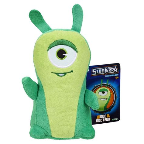Slugterra 73675 Doc Plush: Slug It Out! Now you can collect your favorite slug friends from the hit Disney XD show. Choose from Burpy, Bludgeon, Doc and Joules. This Doc plush figure stands 6 inches tall. For ages 3 and up.