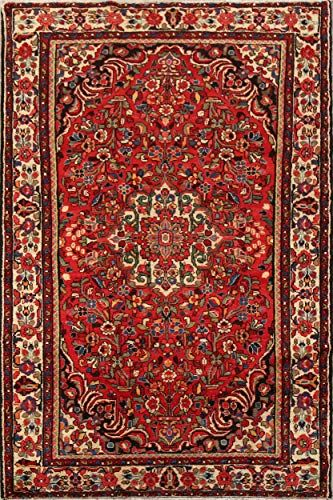 Lilian Persian Vintage Floral Red Traditional Area Rug Handmade Oriental Wool Carpet 5x8 Kitchen 4 10 Handmade Area Rugs Traditional Area Rugs Wool Carpet
