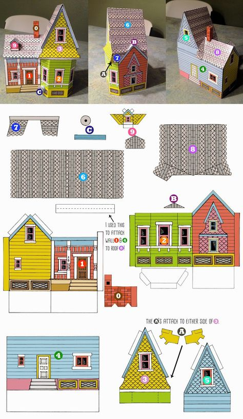 graphic regarding Up House Printable known as Pinterest