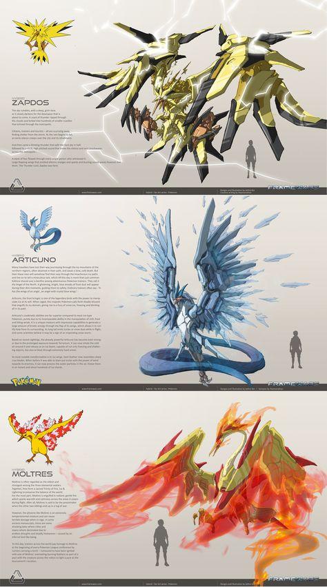 Mecha Legendary Birds - - Drawing Still 2020 Pokemon Fusion Art, Pokemon Fan Art, Mega Pokemon, Pokemon Comics, Pokemon Funny, Pokemon Cards, Pikachu Art, Geek Culture, Photo Pokémon