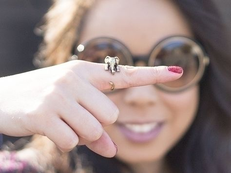 Elefant Ring ♥ Verstellbarer Ring von ISTANBLUE auf DaWanda.com
