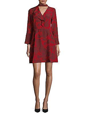 7129aa80c1df8 DEREK LAM 10 CROSBY CHOKER-NECK SILK FIT-&-FLARE DRESS. #dereklam10crosby # cloth #