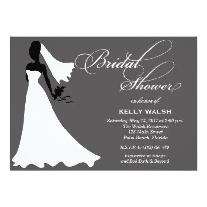 Bridal Shower Invitation Wedding Gown