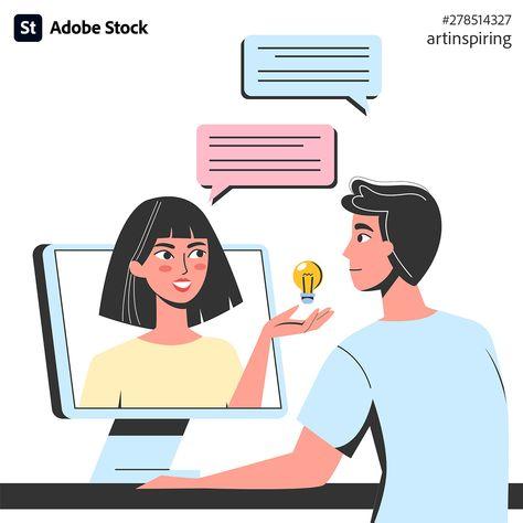 Online chat concept