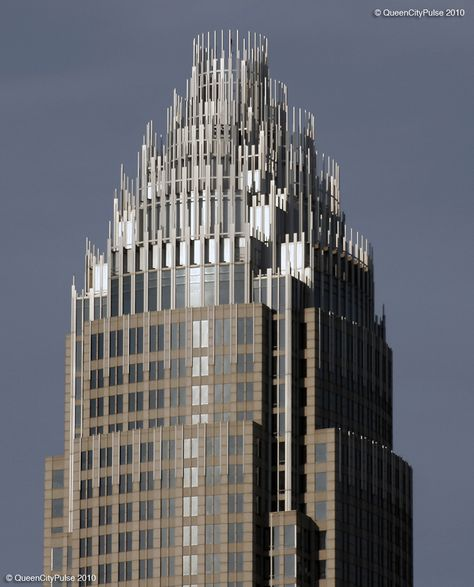Fun Fact All Skyscrappers In Clt Have To Be Approved As Having A Crown Shaped Top To Fill The Queen City Sk Skyscraper Architecture Skyscraper City Skyline