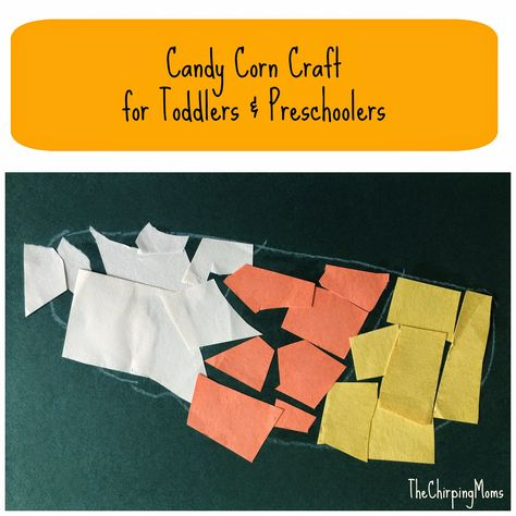 Candy Corn Craft for Toddlers & Preschoolers