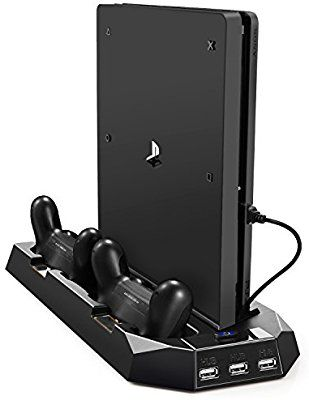 Amazon Com Pecham Vertical Stand For Ps4 Slim Ps4 With Cooling