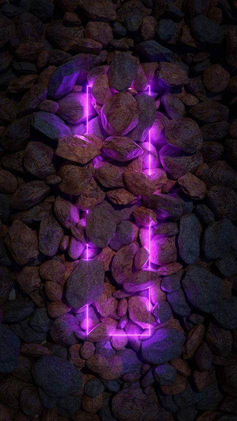 Neon Light in Stones iPhone Wallpaper - iPhone Wallpapers