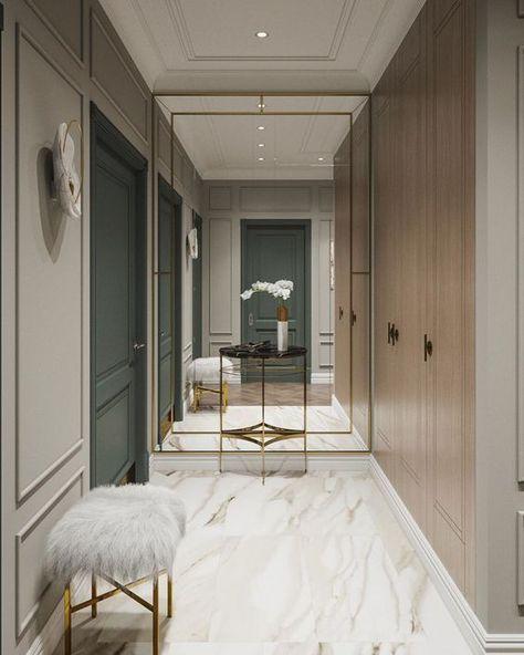 廊下の突き当りには アパートのデザイン 自宅で 家のインテリア